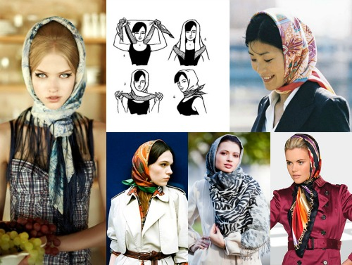 Как завязать платок на голове?