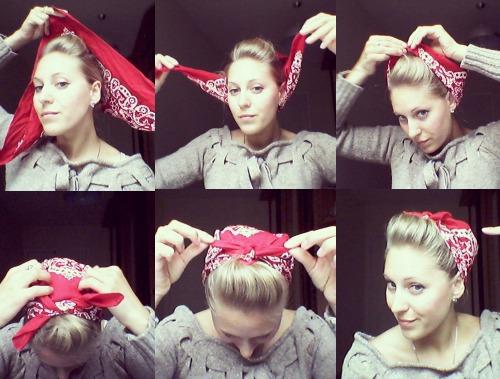 как правильно носить бандану на голов