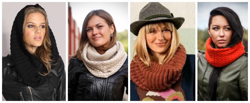как носить шарф-хомут фото