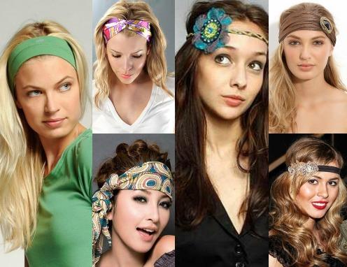 Типы повязок для волос