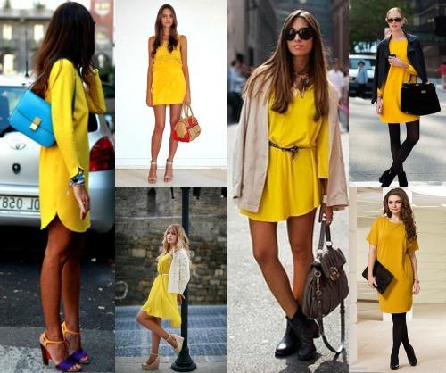 Как подобрать к желтому платью