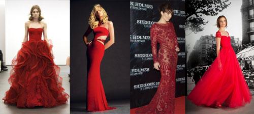 Длинная бижутерия под красное платье