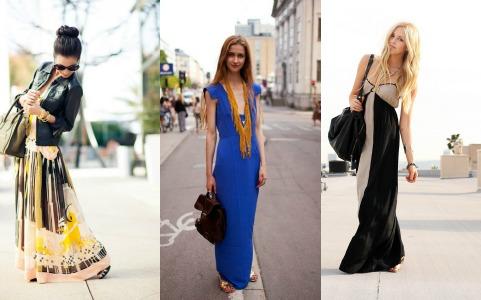Длинное платье и сумка