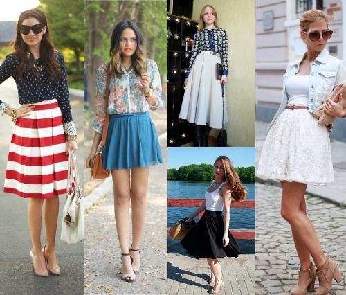 С чем носят белую юбку полусолнце