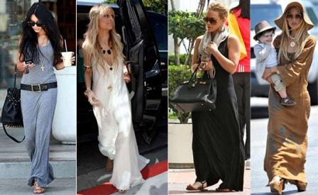 С чем можно носить длинное платье