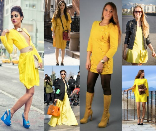Желтое платье обувь какая
