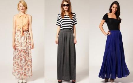 С чем носить серую юбку в пол
