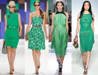 Платье зеленое или фиолетовое