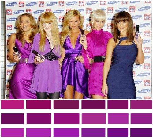 Какие оттенки фиолетового цвета одежды подходят девушкам