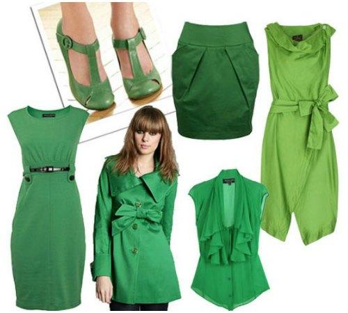 Какой цвет подходит к зелёному в одежде
