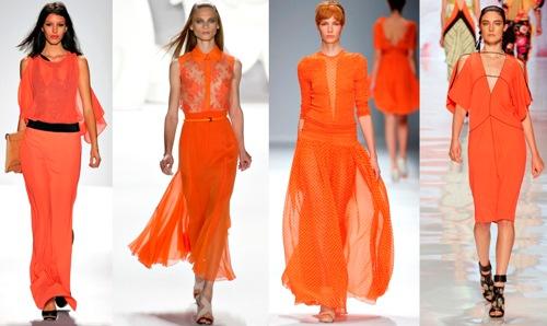 Оранжевый цвет в одежде и времена года
