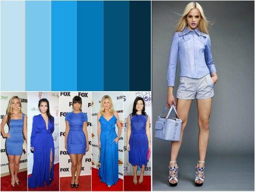 Платье бирюзовый с голубым