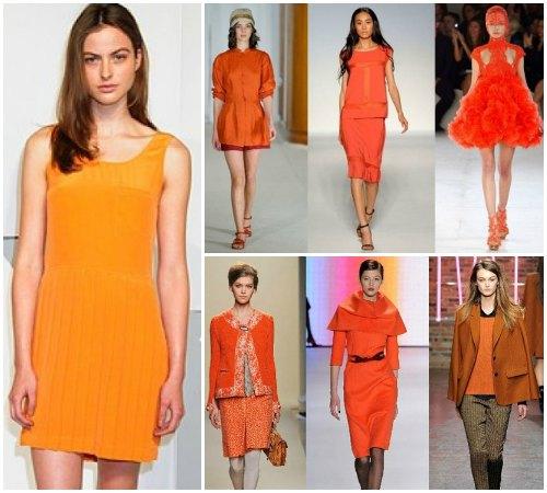 Оттенки оранжевого цвета в одежде
