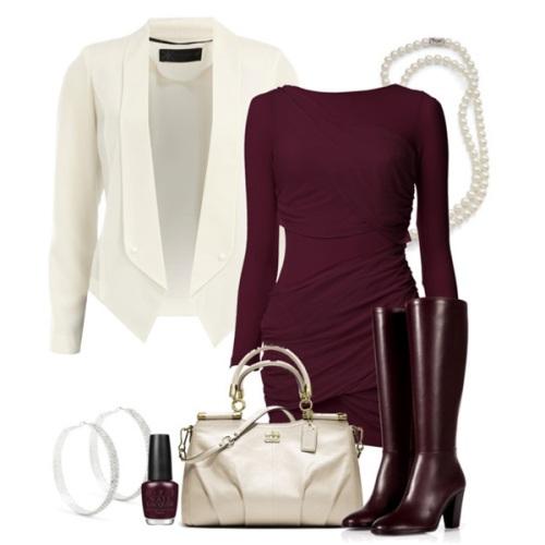 Психология бордового цвета в одежде