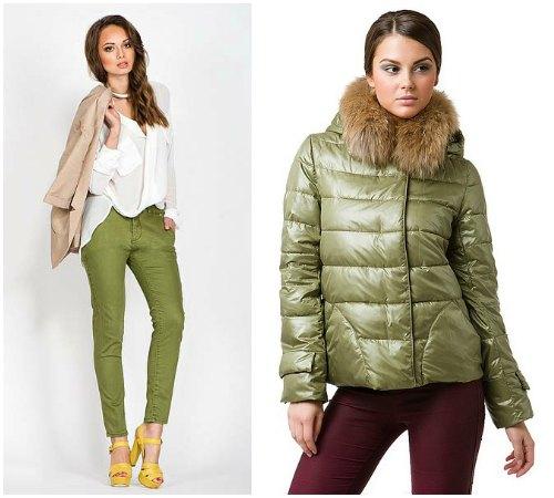 С какими видами одежды выгодно сочетается оливковый цвет