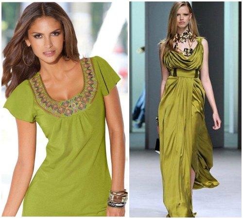 С какой внешностью сочетается оливковый цвет одежды