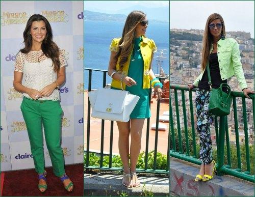 Сочетание зеленого цвета с одеждой других цветов