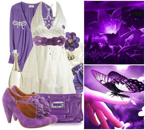 Значение и психология фиолетового цвета в одежде