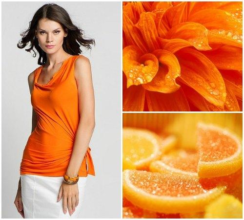 Значение оранжевого цвета в одежде