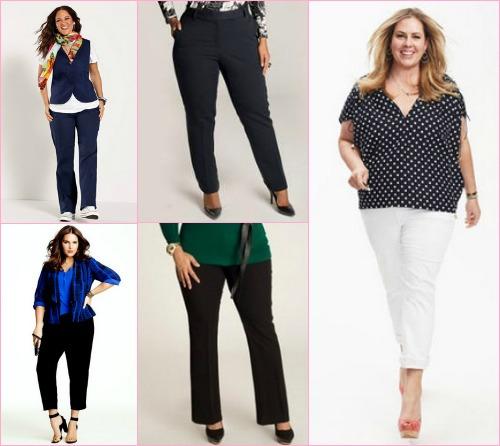 Модели брюк для полных женщин