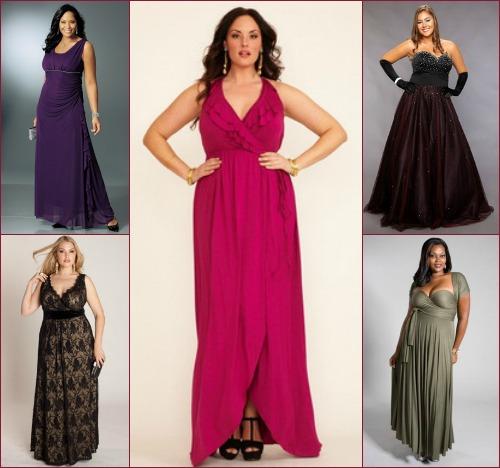 Длинные платья для очень полных