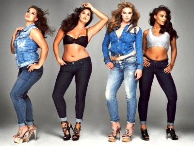 Толстые женщины в джинсах