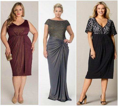 Модели платьев для полных фигура