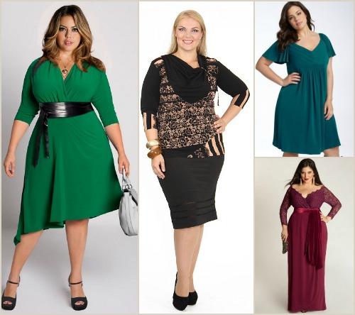 Какие платья выбирать полным
