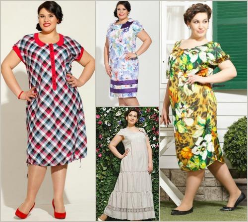 Мода летние платья для полных