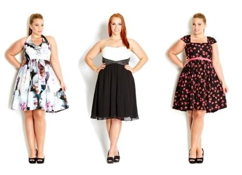 Платья для полных девушек
