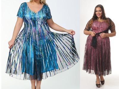 Одежда для полных женщин: Фасон платьев (Фото