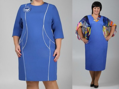 Платья для полных женщин | Мода для полных