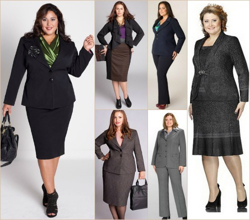 Модель костюма с юбкой для женщин