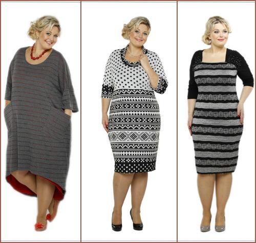 Платье для очень полной женщины фото