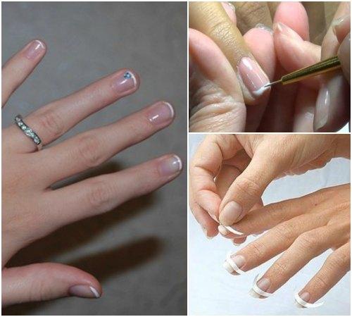 Секреты создания французского маникюра на коротких ногтях