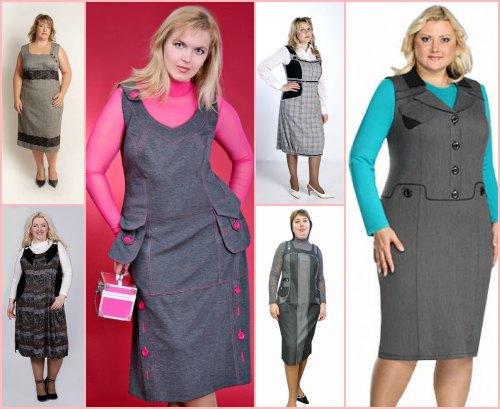 На фото: Сарафаны офисные теплые 2014, фото. платья сарафаны в клетку 2014