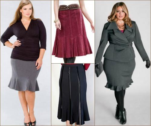 Пример удачного выбор юбки годе