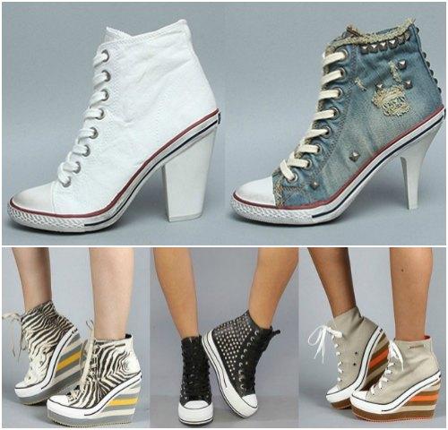 4d10ad8a0981 Какими могут быть кеды на каблуках