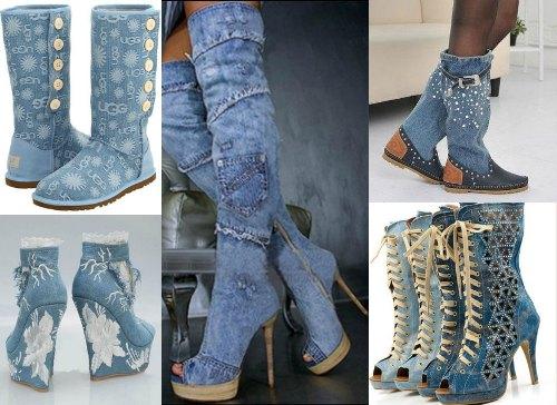 джинсовые сапоги фото с чем носить