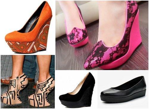 Ретро-туфли и платформа