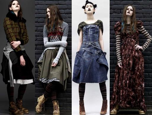Стиль гранж юбки