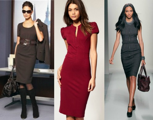 Фасоны делового платья