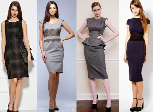 8c4e1bb9740 Классические платья офисного стиля