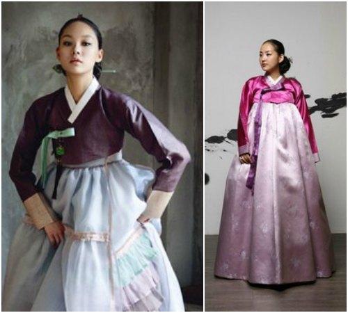 Национальный корейский стиль одежды для девушек