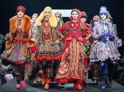 Русский стиль в одежде   Фото   Как одеться в русском стиле e9a65272c28