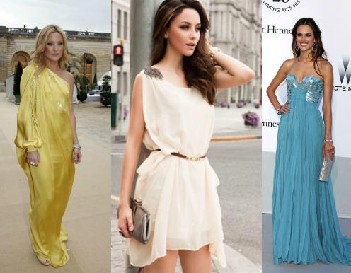 Греческий стиль платья туники