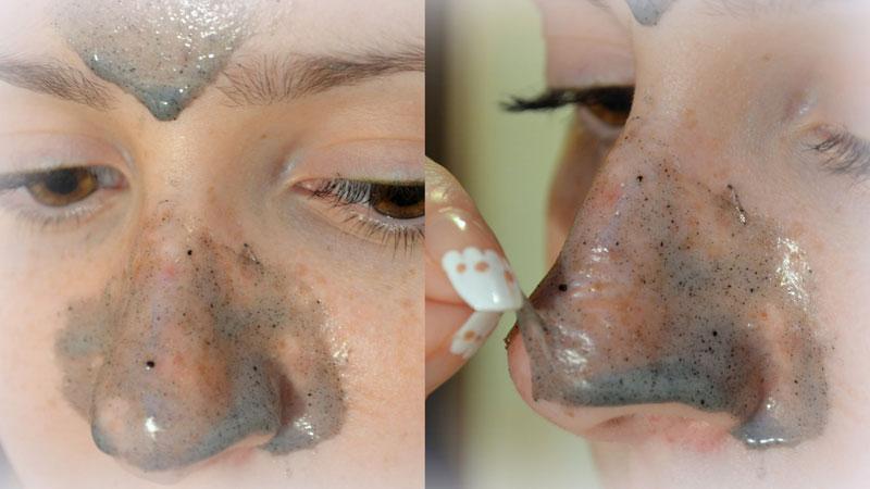Нанесение маски с желатином и углем