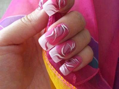 Как делают рисунки на ногтях иголкой