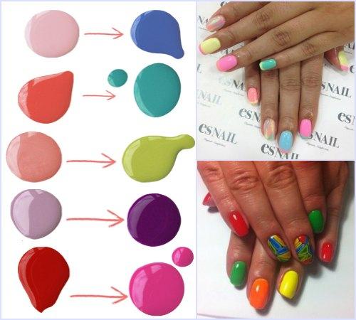 Как сочетать цвета в маникюре?