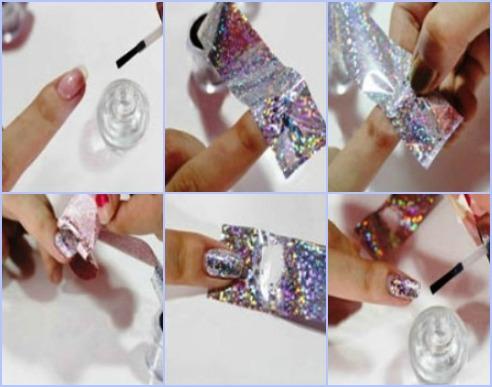 Как сделать металлический маникюр с обычными лаками